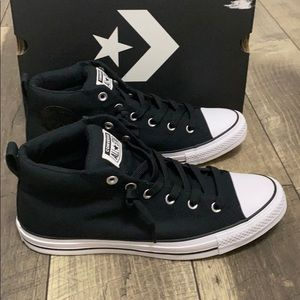 New auth Converse high top sneakers sz 12 display